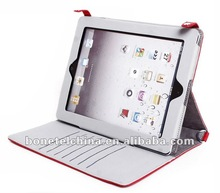 Leather bag with Card Bag design and different Angle Stand for ipad 3 bag