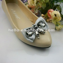 New Style Grey Color Rhinestone Shoe Clips