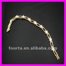 2012 titanium 18K gold vacuum plated women bracelet 1530378