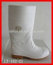 white safety wellington with steel toe