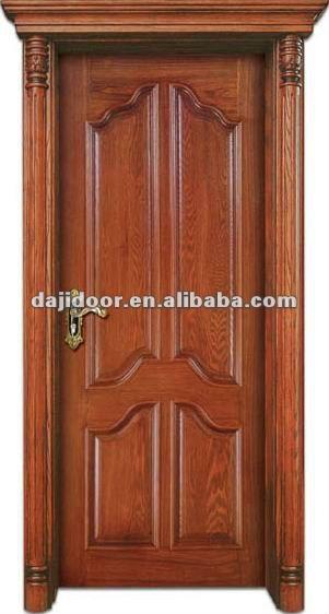 Niza interior puertas de madera para nueva casa dj s110 1 for Precio de puertas de madera para casas
