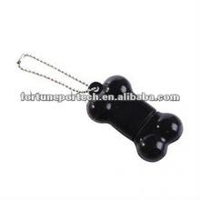 Mini pet bone rubber usb disk keychain