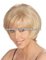 Short Layered Bob Full Lace Grey Wig