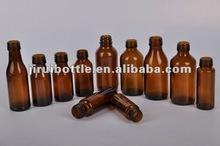 Pharmaceutique ambre bouteilles en verre pour le sirop