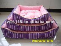 Purple canvas three sets pet bed