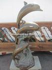 outdoor dolphin bronze fountain