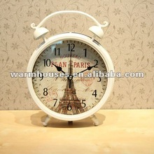 Wrought iron desk clock,Europe type style mantle clock, quaint noble clocks and watches