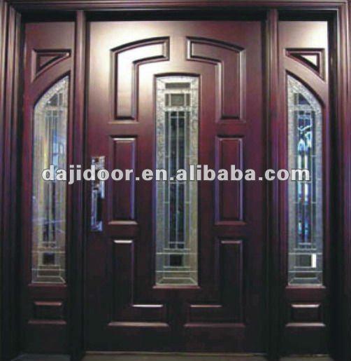 Madera americana puertas para la casa exterior dj s806 for Casas con puertas de vidrio