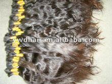 full cuticle 100% virgin natural unprocessed human hair chinese bulk hair,natural wave, natural color,