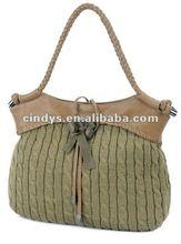 Trendy elegant ladies Fabric handbags with flower