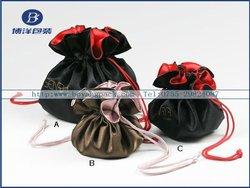 satin mini ziplock bag with round bottom