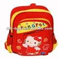 เด็กสีแดงน่ารักภาพของถุงโรงเรียน