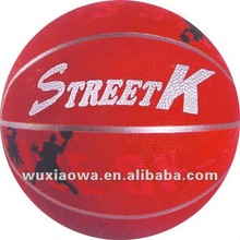 Custom rubber basketball ball/ promotional rubber toys/ logo basketball(RB089)