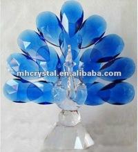 Handicrafts blue crystal peacock figurine MH-D0254