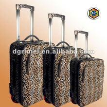 2012 Hot Sale Fashionable Jacquard Cartoon Travel Trolley Luggage Case