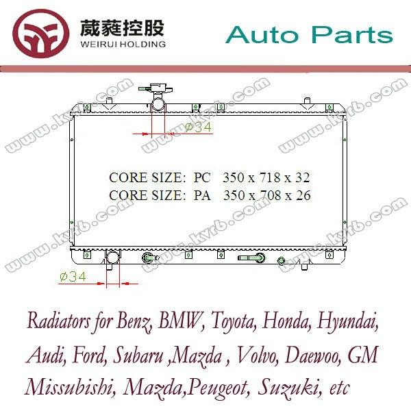 Auto del radiador para SUZUKI suzuki, 2.0L OEM 17700-54G20 radiador del coche buy radiador