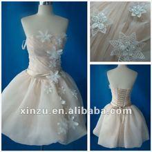 2012 New Design Real Sample Appliqued Cocktail Dress 2012