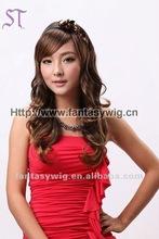 Long big wave korean kanekalon fiber wigs