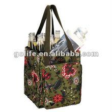 Promotional Non woven Bottle Wine Bag, Recyclable PP Woven Wine Bag, recycled plastic wine cooler bag