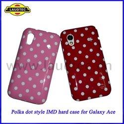 Stylish, Lovely Polka Dots design,IMD Hard Case for Samsung Galaxy Ace S5830,Hard Back Case Cover
