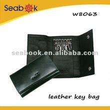 black pu leather car key case