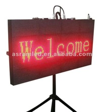 alibaba express new products portable P10 outdoor running scrolling moving led message advertising sign billboard