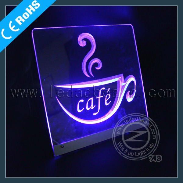 الصمام تصميم فريد مقهى كافيه لافتات النيون فتح