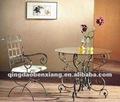 Decoração da casa de ferro sofá de chá tabela/ mesa final melhor - vender móveis de metal