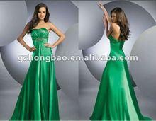 2012 1020# whole sale nice beading evening dress big train