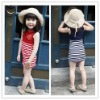 2012 new design lovely children's summer dress school girls without dress