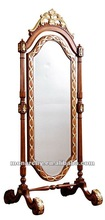 B3002-31 excellent furniture wood carving bedroom furniture wooden venetian mirror