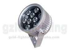 9W IP65 RGB led round garden spot lights