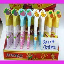 fashion fruit pen plastic click ball pens