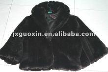 short black winter fake fur jacket