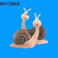 Garden accessories resin land snails