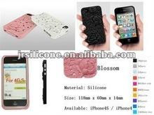 """ROSE"" design silicone phone case for iphone4/4s"