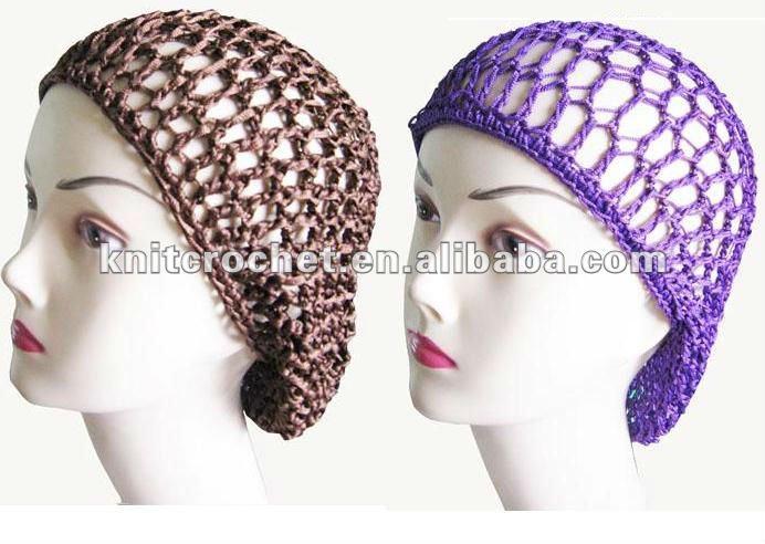 Crochet Hair Snood Cap,Crocheted Snood Hair Net - Buy Crochet Snood ...