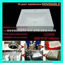 2012 Chic Solid Surface Bath Basin,Modern Cabinet Basin