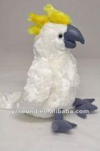 Cockatoo white soft plush toy bird