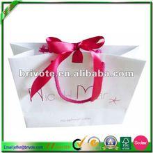 2012 elegant craft paper bag with ribbon