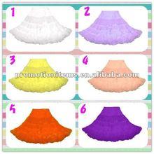 lavender, peach, yellow, purple,crinoline, adult white petticoat
