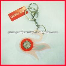 fashion key chain swan clock promotional acrylic keychain