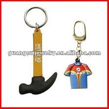 fashion key ring soft pvc keychain hammer craft ideas