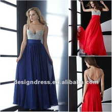 2012 new fashion sexy backless beaded straps full sequined bust long chiffon evening dresses gowns inspired by jasz couture 4502