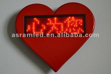 Promotional items & gifts product cheaper mini message digital usb rechargeable led heart badge