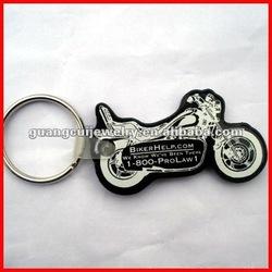 fashion key chain soft pvc motorcycle keyring