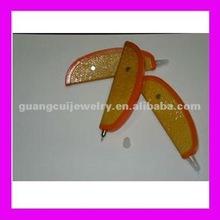 fashion orange vegetable shaped pen