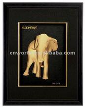 24k gold indian elephant god
