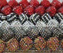 Latest hoop earings or bracelet accessories hot in 2012! Loose rhinestone pave resin beads in bulk!