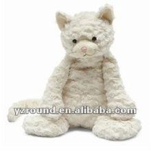 large super soft plush cream cat